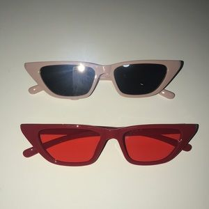 Accessories - Two Sunglasses Red and Mauve